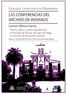 Cartel Archivo Indianos Carmen Alfonso García