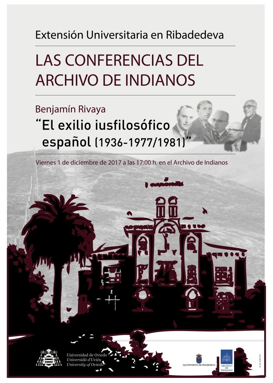 Cartel Archivo Indianos 2017-12-01. Benjamín Rivaya