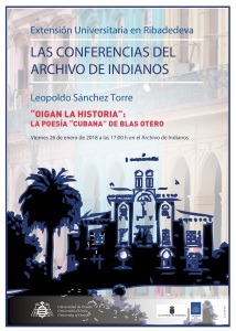 Cartel Archivo Indianos - Leopoldo Sánchez Torre