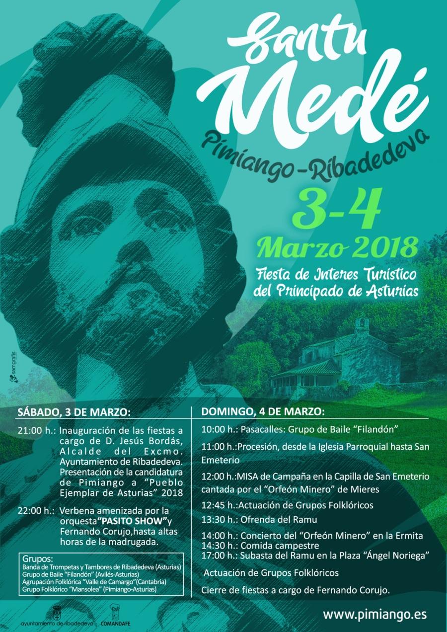 Cartel santu Medé 2018 programa