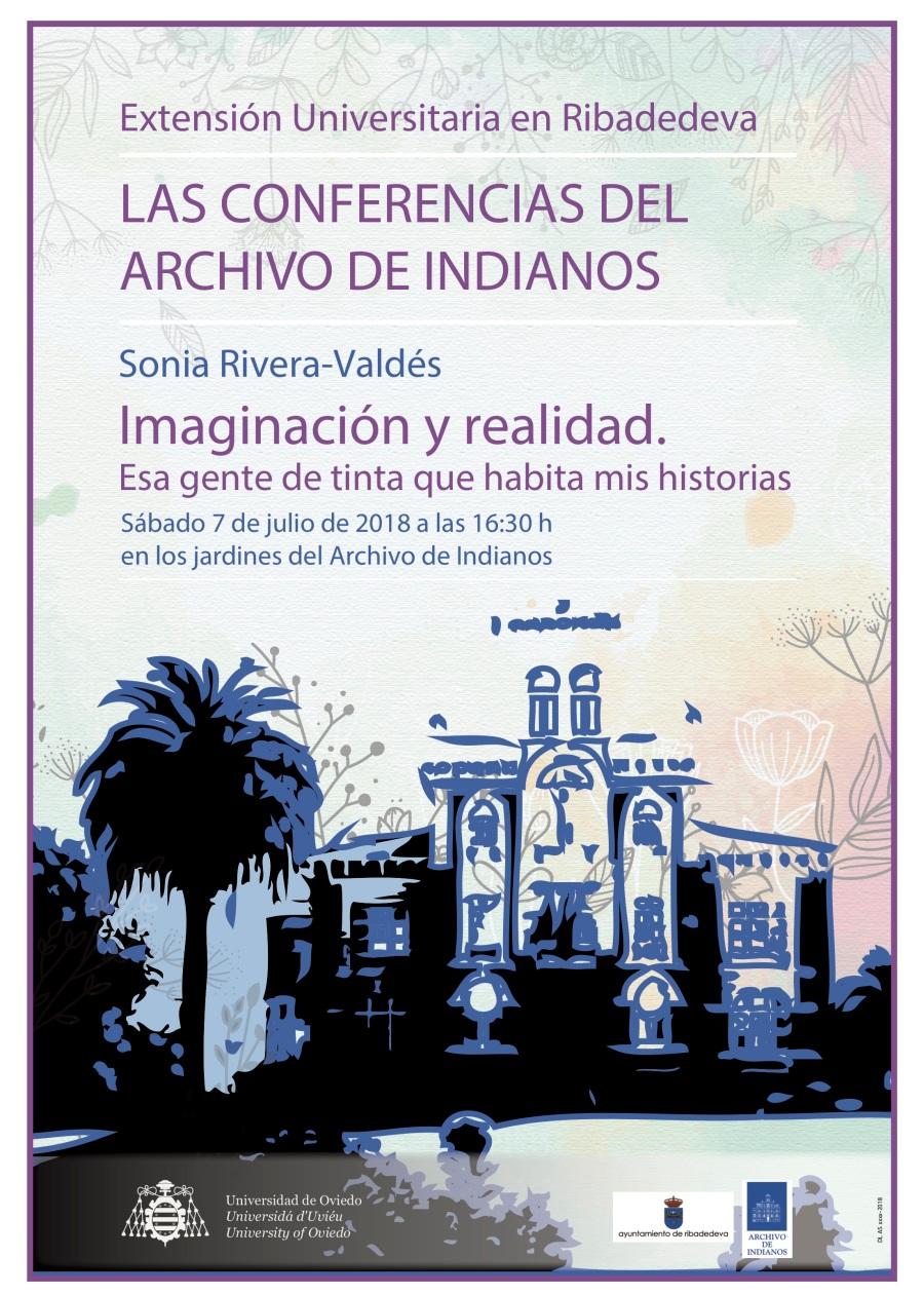 Cartel Archivo Indianos. Sonia Rivera-Valdés