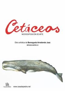 Cartel exposición cetáceos